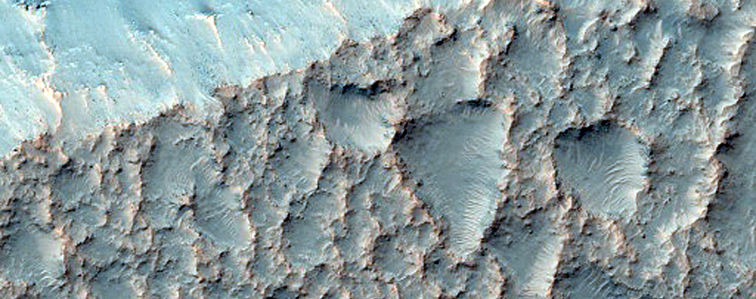 Gullies along Trough Near Mariner Crater