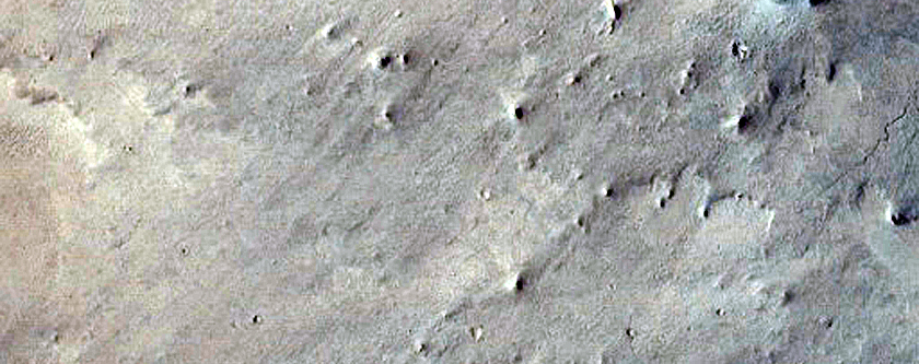 Central Region of Rocky Impact Crater