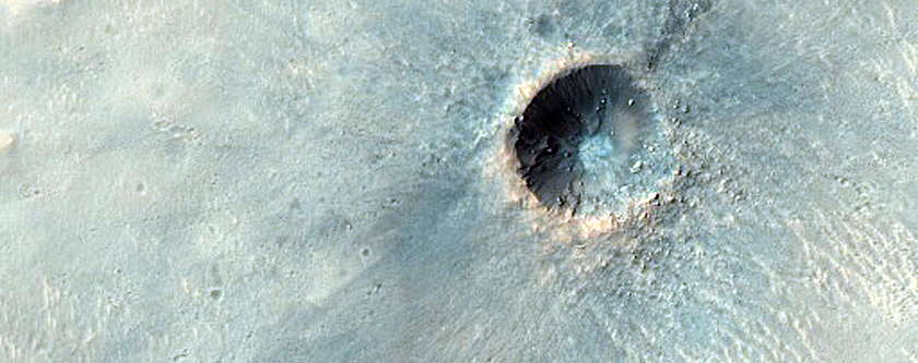 Small Fresh Crater South of Airy Crater