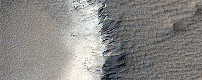 Small Crater Near Tharsis Region