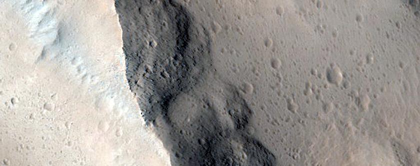 Landforms in Amazonis Planitia