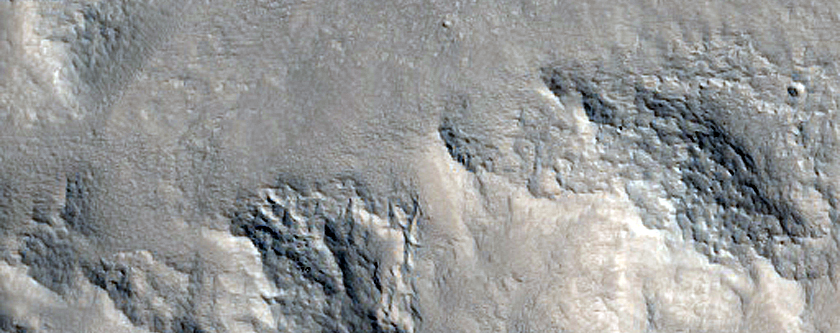 Landforms in Northern Arabia Terra
