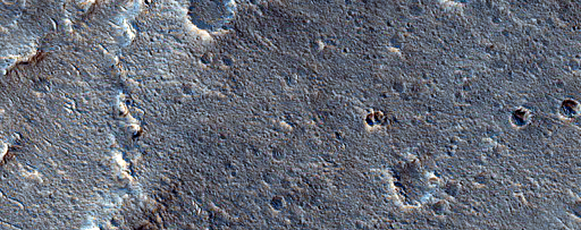 Wrinkle Ridge on Lava Flow South of Aromatum Chaos