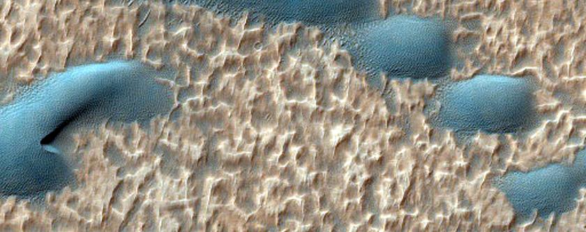 Noachis Terra Sand Dune Topography