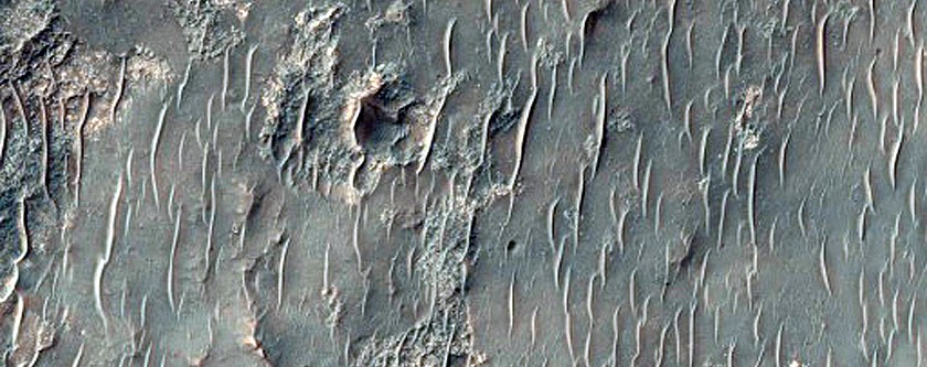 Possible Exposed Ejecta from Well-Preserved Crater in Noachis Terra