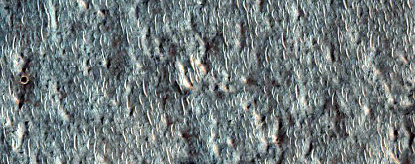 Possible Olivine-Rich Ejecta Within Mariner Crater