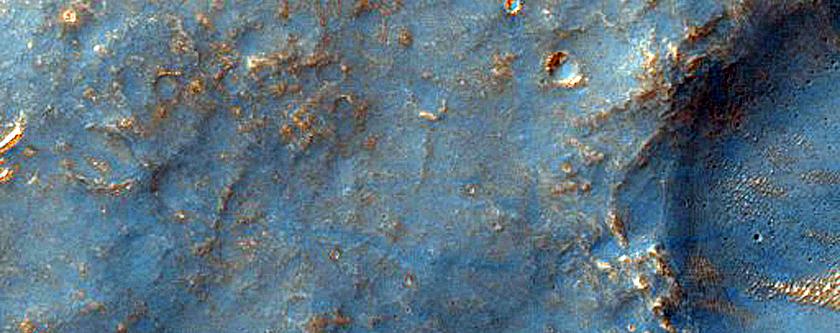 Ridges in Sinai Dorsa