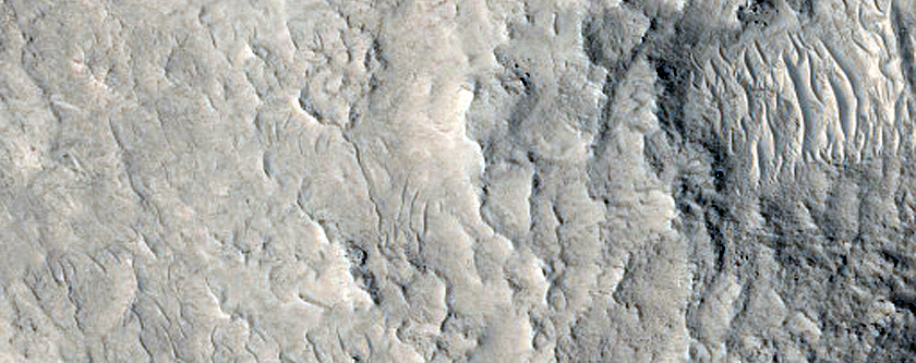 Central Peak of Crater West of Coloe Fossae