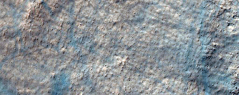 Contact Between Olivine-Rich Plains and Ejecta in Terra Sirenum