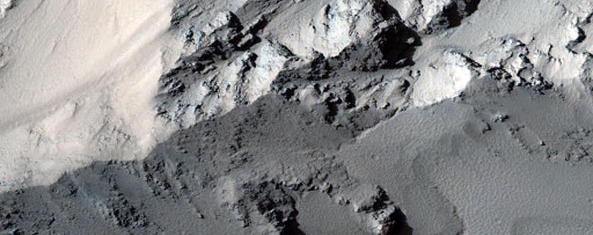Noctis Labyrinthus Slope Sample