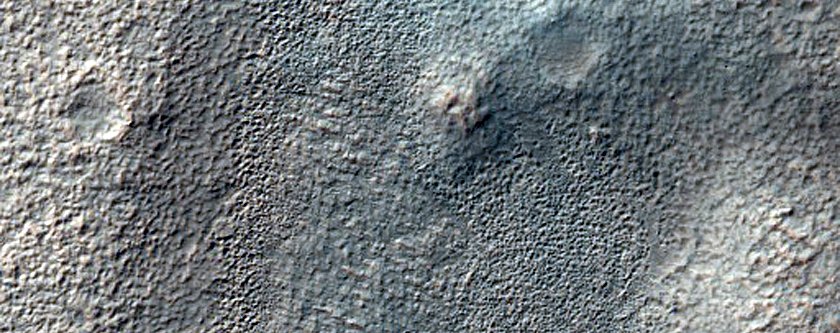 Eroded Crater Ejecta West of Icaria Planum