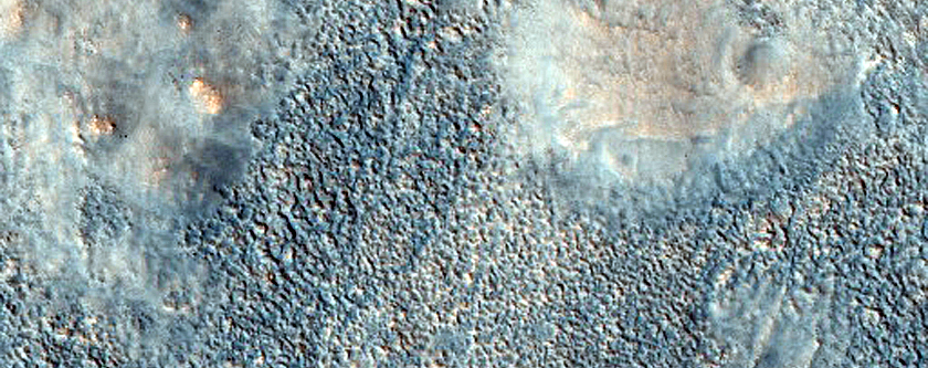 Pitted Cones on Ridge in Acidalia Planitia