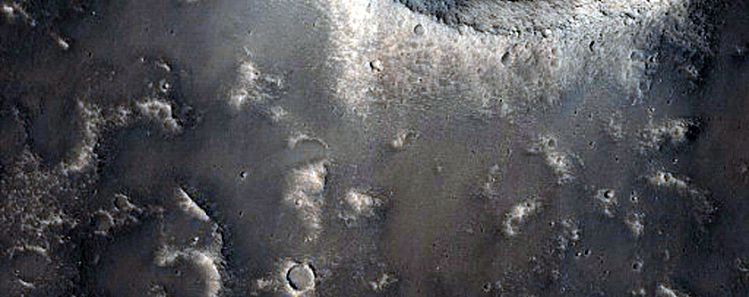 Small Impact Crater in Elysium Region