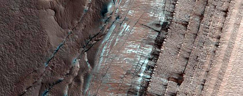 Monitoring of Steep Scarp in North Polar Layered Deposit Interior