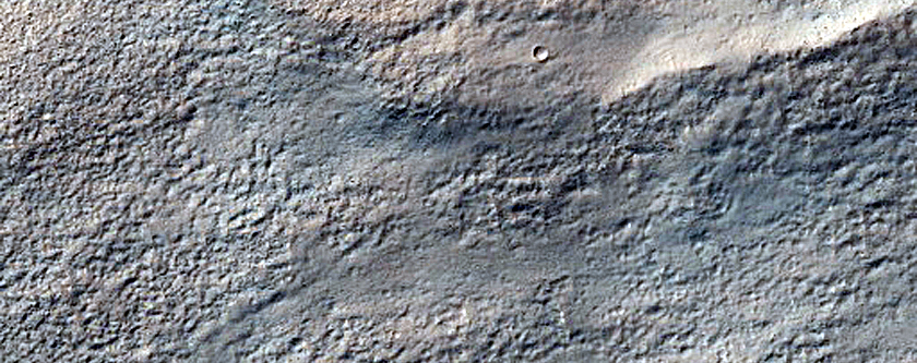 Dipping Layers Near Reull Vallis