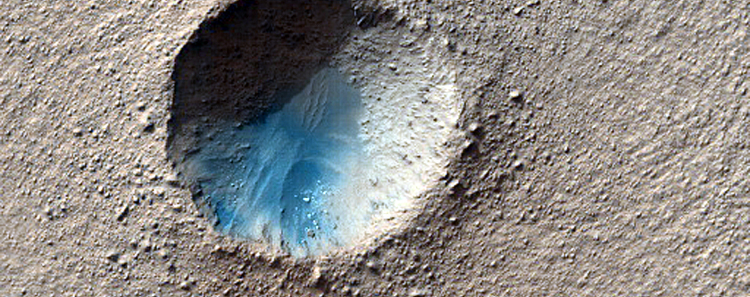 Small Crater in Hellas Region