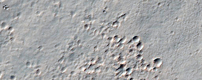 Southwestern Ejecta of Resen Crater
