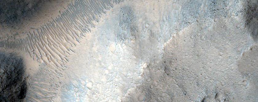 Galilaei Crater Chaos Terrain
