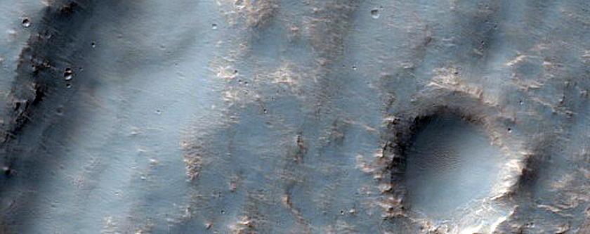 Channels West of Jori Crater