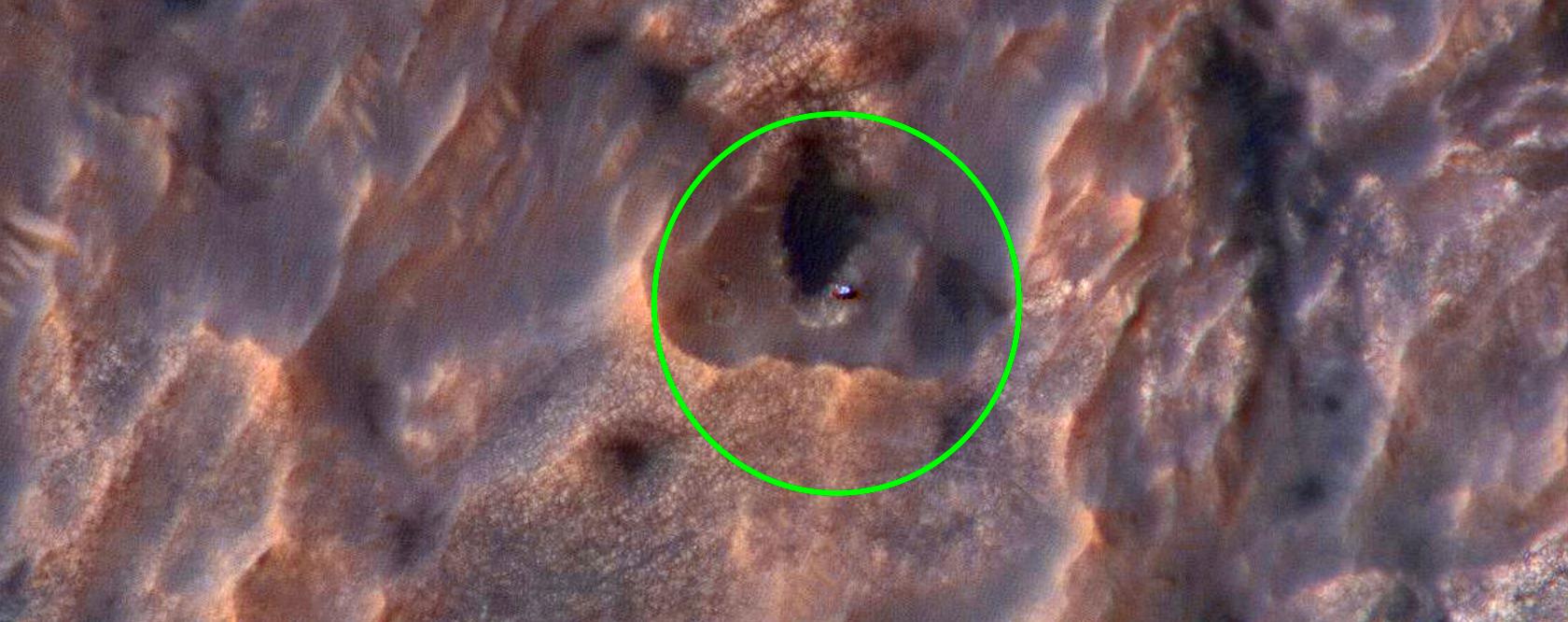 Curiosity Rover on the Move