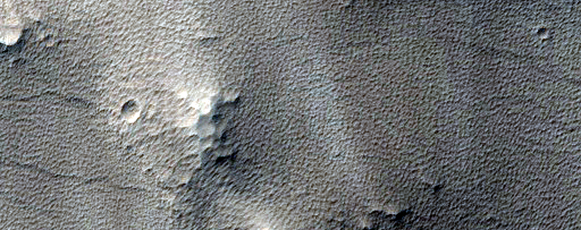 Crater and Fluidized Ejecta