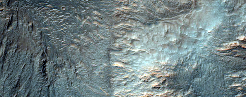 Northwestern Ejecta Feature of Noord Crater