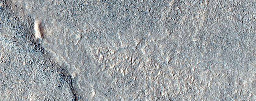 Ridge West of Lyot Crater