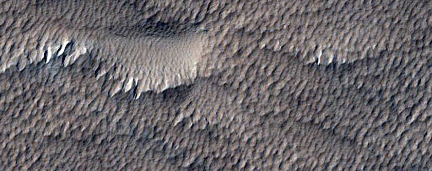 Small Crater in Amazonis Planitia