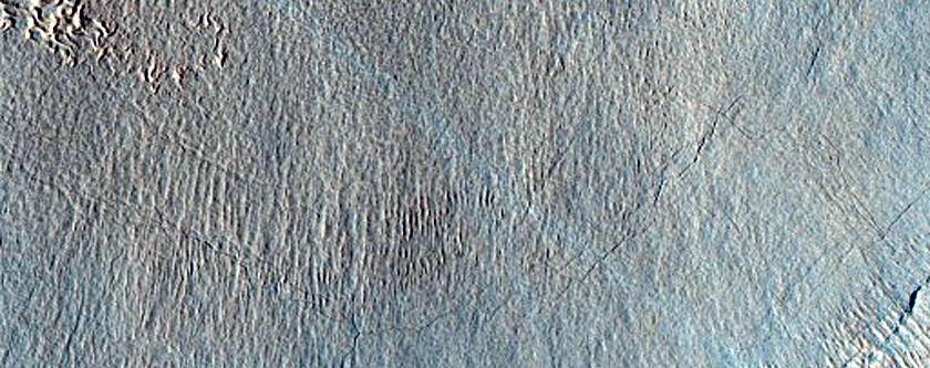 Landforms West of Renaudot Crater