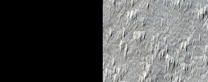 Lava Apron Southwest of Arsia Mons
