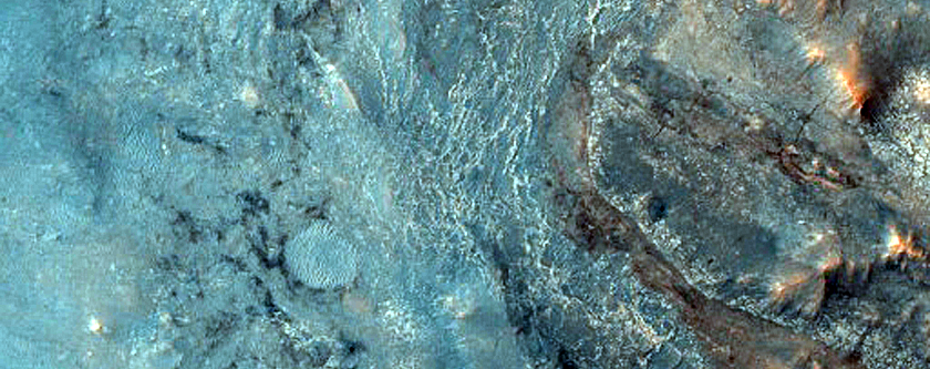 Eastern Exposure of Hargraves Crater Ejecta