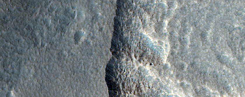 Scarps in Milankovic Crater