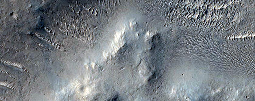 Channel Near Amenthes Rupes