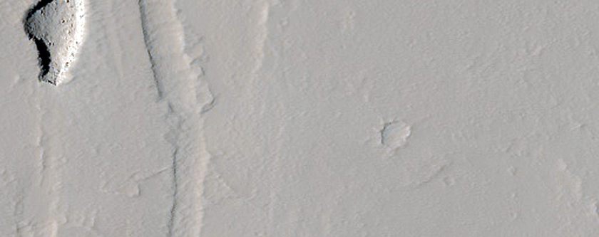 Collapse Pit in Ceraunius Fossae