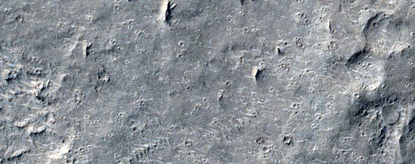 Sample of Lightly Eroded Layering in Medusae Fossae Formation Outlier