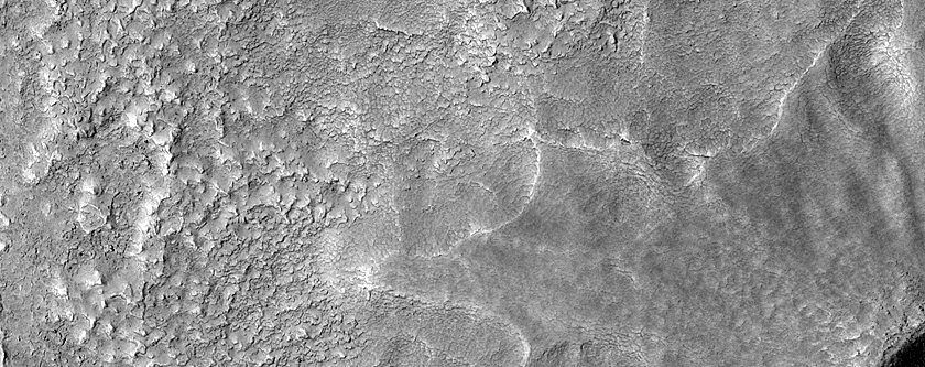 Pedestal Crater West of Lyot Crater