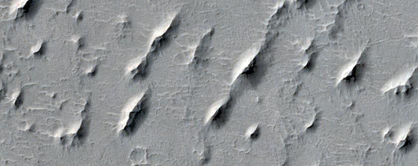 Yardangs in Arabia Terra