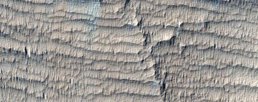 Lava-Medusae Fossae Formation Contact
