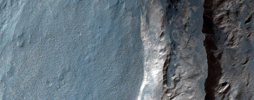 Light-Toned Spur in North Melas Chasma Wall Rock