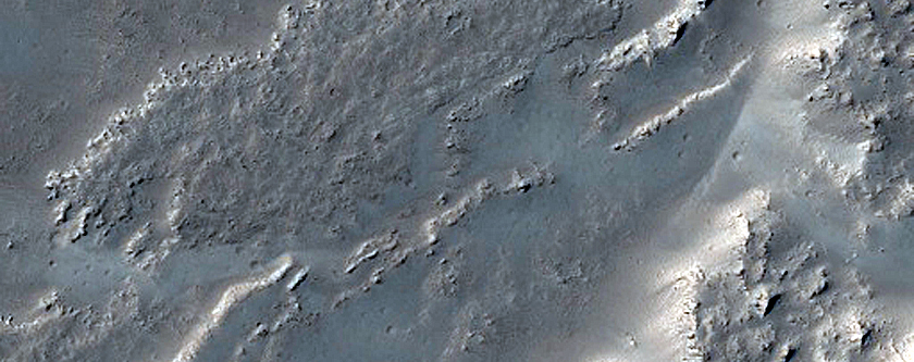 Leveed Rugged Lava Flow in Daedalia Planum