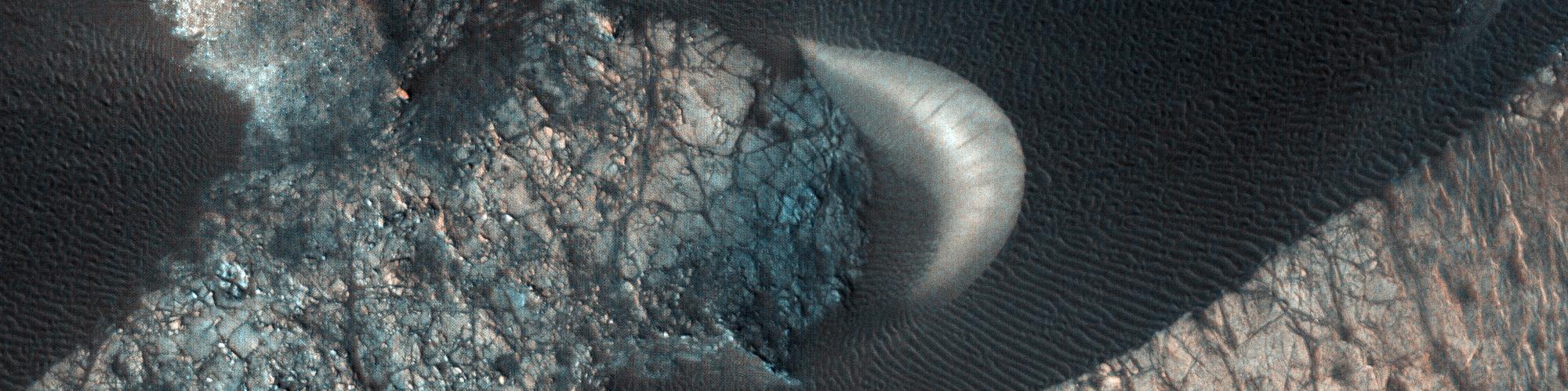 A Dune Field near Nili Patera