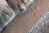 Arsia Mons Southeast Caldera Wall