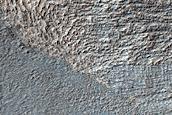 Tongue Shaped Flow near Reull Vallis