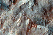Normal Faults along Coprates Chasma Floor