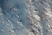 East Rim of Well-Preserved Impact Crater