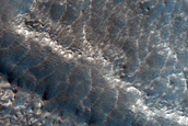 Layers in Debris Apron in Northern Mid-Latitudes