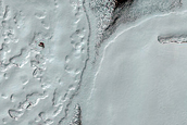 South Polar Residual Cap Swiss Cheese Terrain