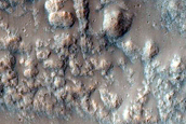 Hesperia Planum Lava Stratigraphy Exposed in Crater Wall