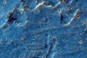 Northeast Ejecta Blanket of 6-Kilometer Crater