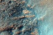 Craters in Sirenum Fossae
